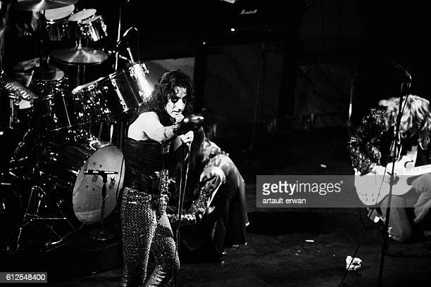 American singer and songwriter Alice Cooper on stage at the Olympia music hall