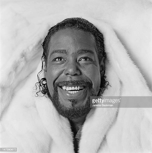 American singer and songwriter Barry White in New York City 1987