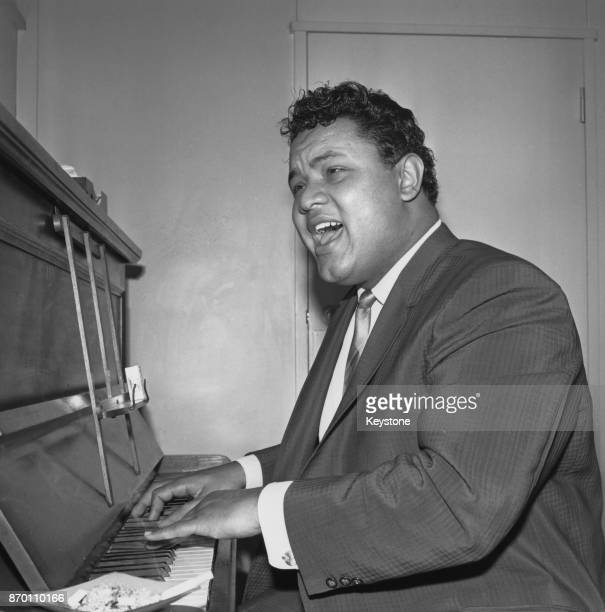 American singer and songwriter Big Dee Irwin at the piano 21st February 1964