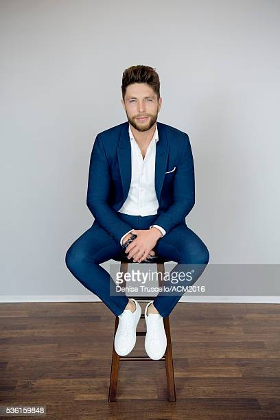 American singer and songwriter Chris Lane poses for a portrait at the 51st Academy Of Country Music Awards on April 3 2016 in Las Vegas Nevada