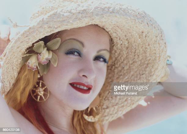American singer and songwriter Cyndi Lauper in Hawaii, 1986.