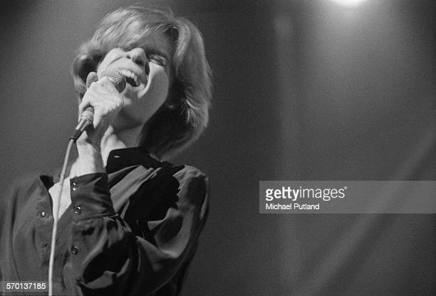 American singer and songwriter Daryl Hall of American pop duo Hall and Oates performing on stage 2nd June 1976