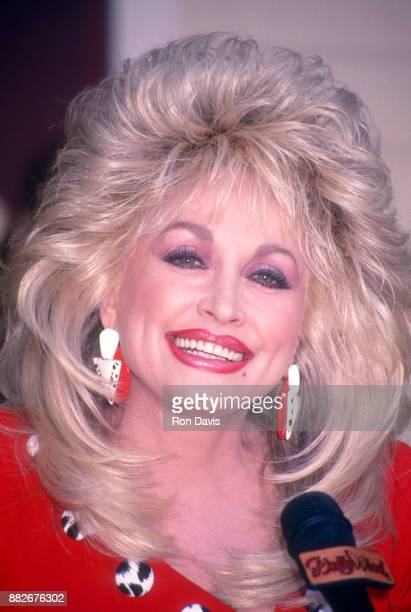 American singer and songwriter Dolly Parton attends the Opening Weekend Celebration of Dollywood on April 24 1993 at Dollywood in Pigeon Forge...