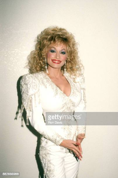 American singer and songwriter Dolly Parton poses for a portrait circa December 1988 in Lake Tahoe California