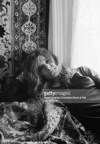 American singer and songwriter Janis Joplin at her home in HaightAshbury San Francisco November 1967