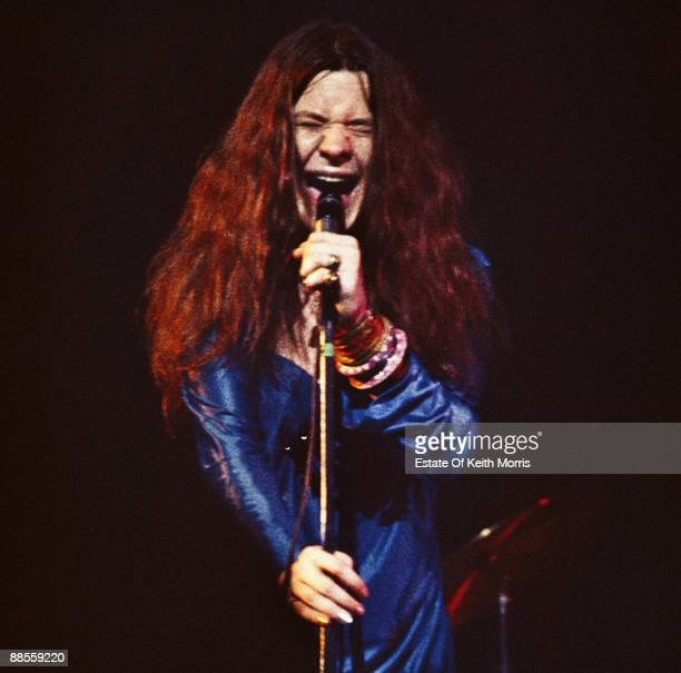 American singer and songwriter Janis Joplin in concert at the Royal Albert Hall in London 21st April 1969
