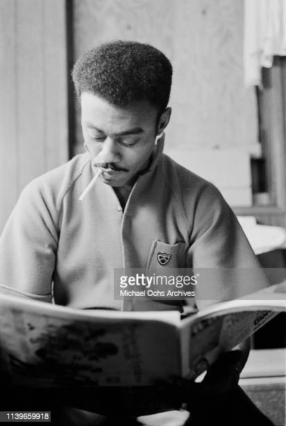 American singer and songwriter Johnnie Taylor backstage at the Apollo Theater in New York City 1968