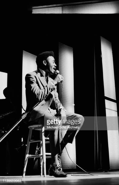 American singer and songwriter Johnnie Taylor performing at the Apollo Theater in New York City circa 1968