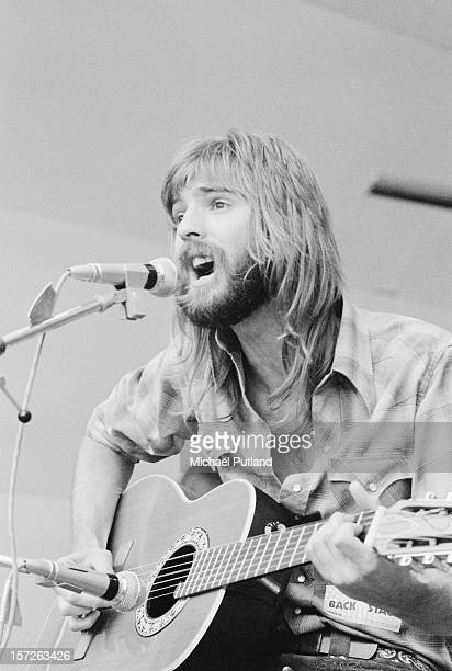 American singer and songwriter Kenny Loggins of Loggins and Messina performs at the Crystal Palace Garden Party in London 29th July 1972