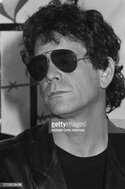 American singer and songwriter Lou Reed during a press conference for the Conspiracy of Hope benefit concerts in aid of Amnesty International, USA,...