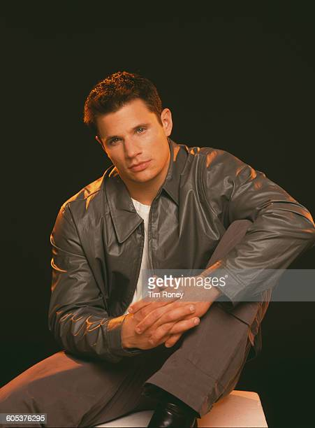 American singer and songwriter Nick Lachey of boy band 98 Degrees circa 1995
