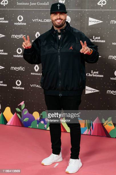 American singer and songwriter Nicky Jam attends 'Los40 music awards 2019' photocall at Wizink Center on November 08, 2019 in Madrid, Spain.