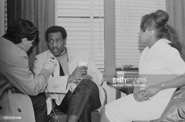 American singer and songwriter Otis Redding being interviewed at Hunter College New York City 21st January 1967