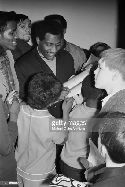 American singer and songwriter Otis Redding makes a surprise appearance at Hunter College New York City 21st January 1967