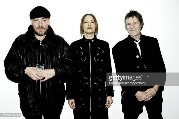 American singer and songwriter Sandy Dillon posed backstage with her trio at The Barbican in London on 28th October 2007