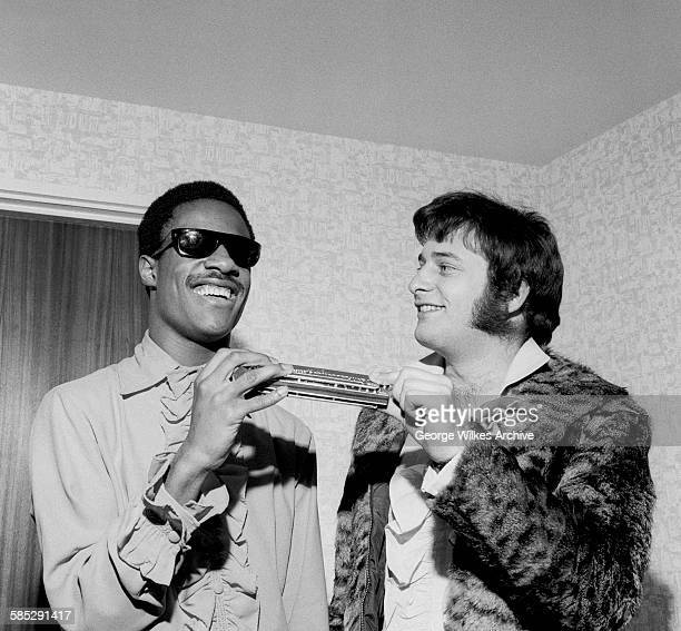 American singer and songwriter Stevie Wonder