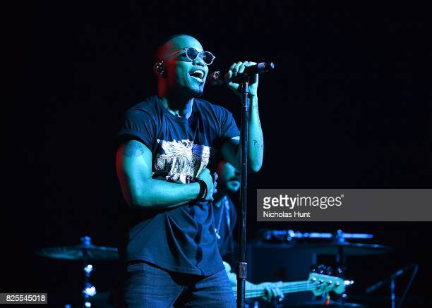 American singer Anderson Paak performs at Barclays Center of Brooklyn on August 1 2017 in the Brooklyn borough of New York City