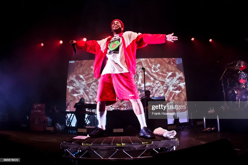 American Singer Anderson  Paak performs live on stage during