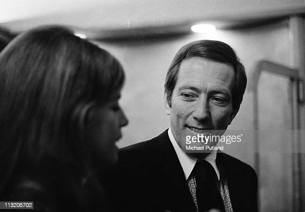 American singer Andy Williams with his wife French singer and actress Claudine Longet at the Savoy Hotel in London on 7th November 1970