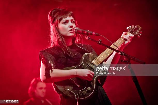 American singer Angel Olsen performs live on stage during a concert at the Huxleys on January 30, 2020 in Berlin, Germany.