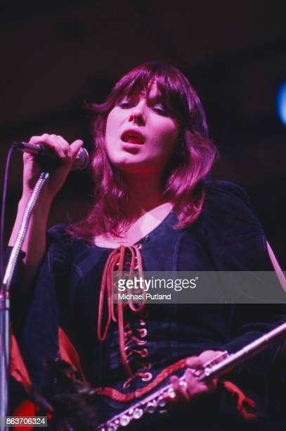 American singer Ann Wilson of rock group Heart performs on stage New York 1978