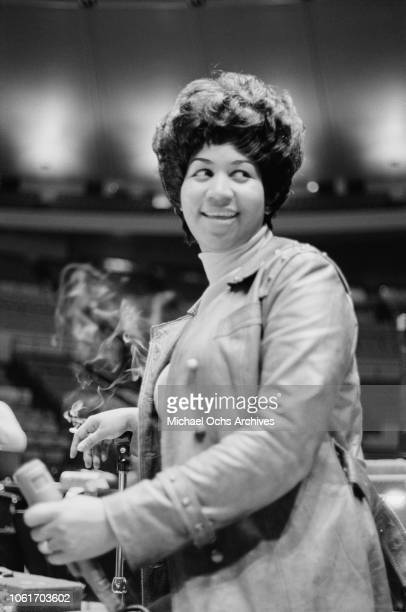 American singer Aretha Franklin during rehearsals for the Soul Together show in Madison Square Garden New York City 28th June 1968 Proceeds from the...