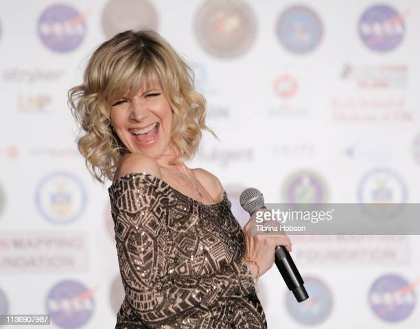 American singer author and actress Debby Boone performs at the 16th annual 'Gathering for Cure' black tie awards gala of Brain Mapping Foundation on...