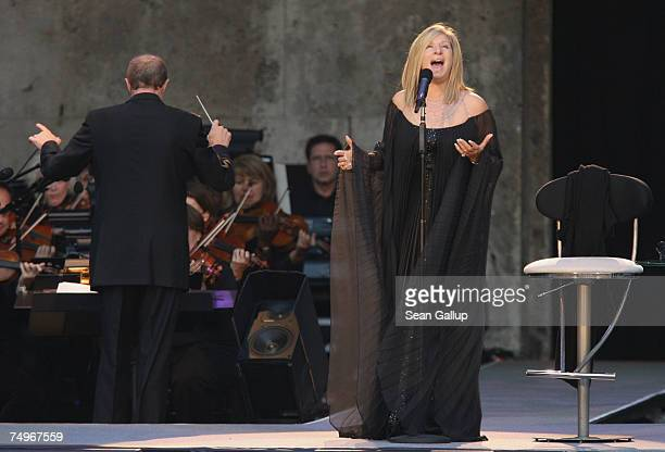 American singer Barbra Streisand performs at the Waldbuehne June 30 2007 in Berlin Germany