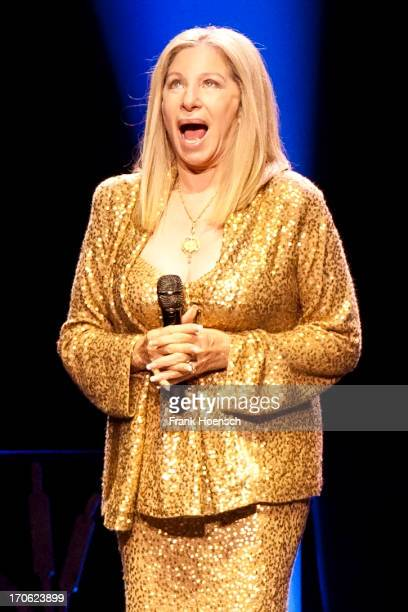 American singer Barbra Streisand performs live during a concert at the O2 World on June 15 2013 in Berlin Germany