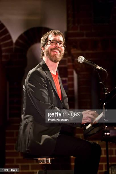 American singer Ben Folds performs live on stage during a concert at the Passionskirche on May 17 2018 in Berlin Germany