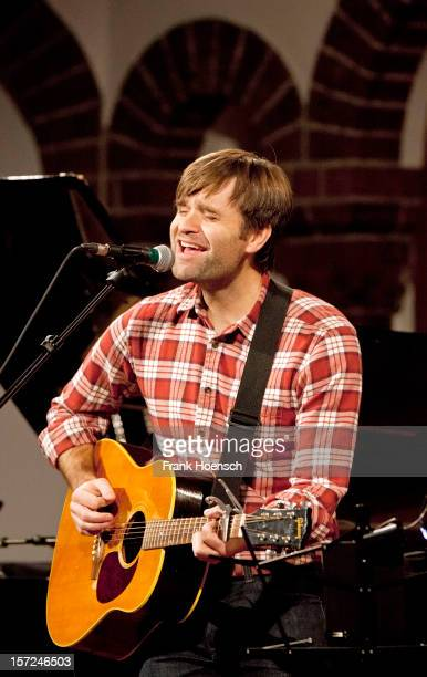American singer Ben Gibbard performs live during a concert at the Passionskirche on November 30 2012 in Berlin Germany