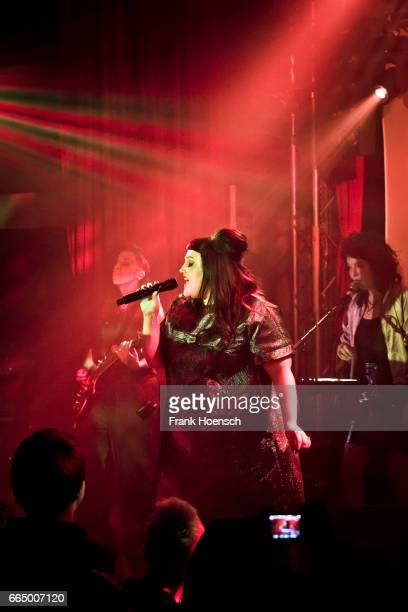 American singer Beth Ditto performs live during a concert at the Lido on April 5 2017 in Berlin Germany