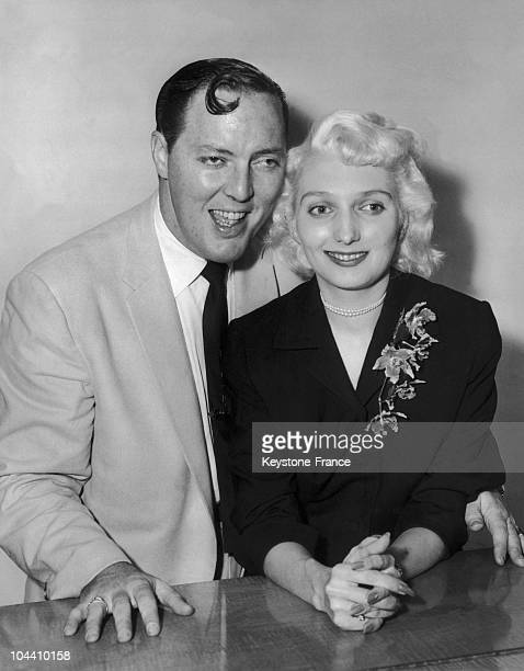 American singer Bill HALEY and his wife at a reception in London He is the singer of the international hit ROCK AROUND THE CLOCK