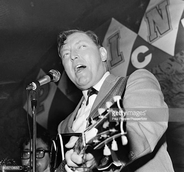 American singer Bill Haley performing on stage at the Princess night club in Manchester circa 1968