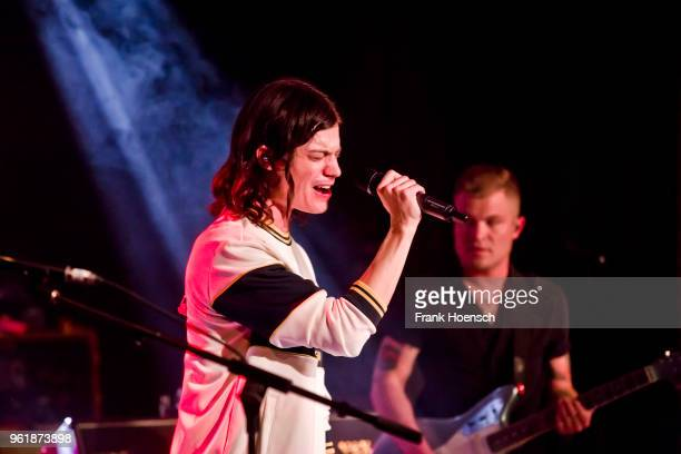 American singer BORNS performs live on stage during a concert at the Festsaal Kreuzberg on May 23 2018 in Berlin Germany
