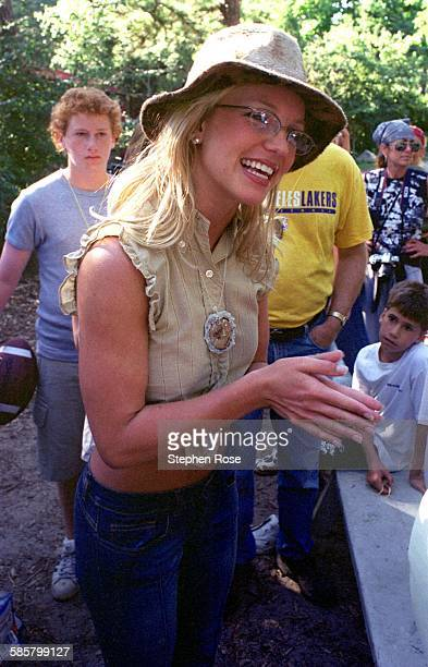 American singer Britney Spears at the Britney Spears Camp for the Performing Arts located at Camp Wingate Kirkland in Yarmouth Port Massachusetts...