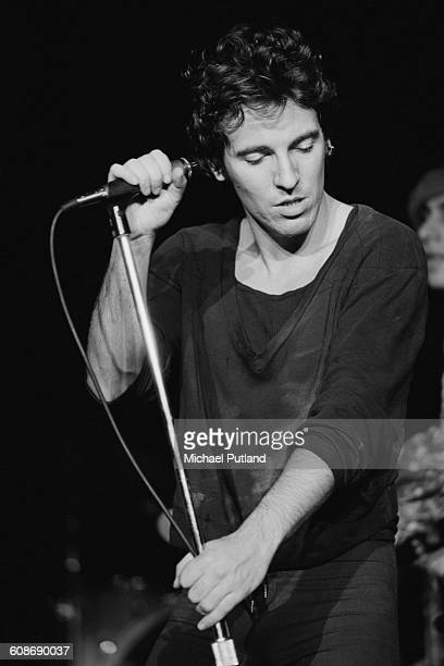 American singer Bruce Springsteen performing with the E Street Band at the Capitol Theatre in Passaic New Jersey 31st December 1977 Photo by Michael...