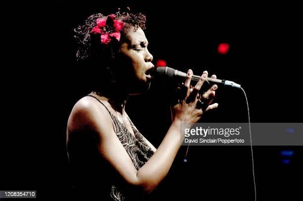 American singer Carleen Anderson performs live on stage at Ronnie Scott's Jazz Club in Soho London on 27th June 2006