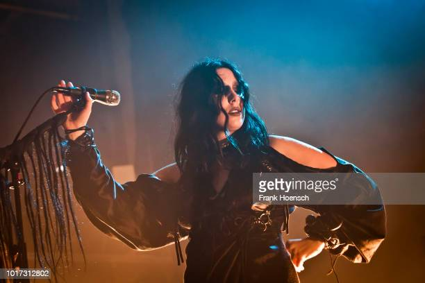 American singer Chelsea Wolfe performs live on stage during the Festival PopKultur at the Kesselhaus on August 15 2018 in Berlin Germany