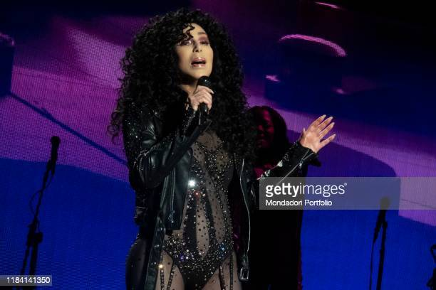 American singer Cher in concert with her Here We Go Again Tour at the SSE Hydro Arena in Glasgow Glasgow October 28th 2019