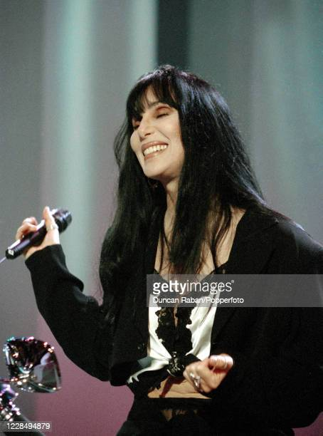 American singer Cher performing on the Michael Ball TV Show at in London, England on June 28, 1994.