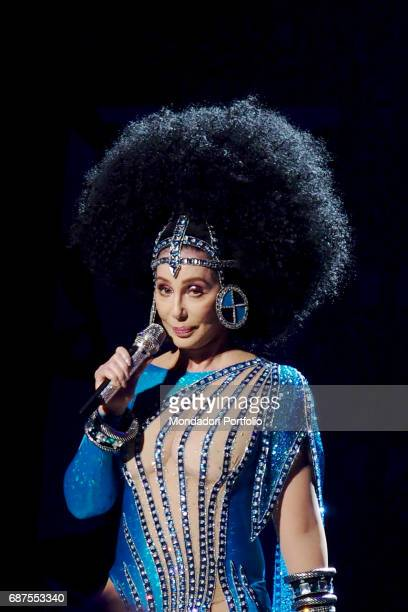 American singer Cher performs at Mgm National Harbor during her show 'Classic Cher' Washington March 17 2017