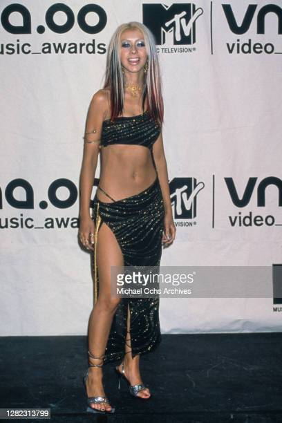 American singer Christina Aguilera attends the 17th Annual MTV Video Music Awards, held at the Radio City Music Hall in New York City, New York, 7th...