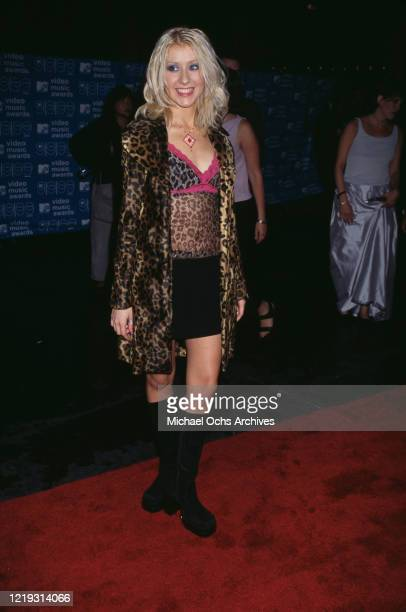 American singer Christina Aguilera attends the 1999 MTV Video Music Awards, held at the Metropolitan Opera House, part of the Lincoln Center for the...