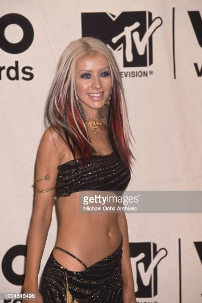 American singer Christina Aguilera attends the 2000 MTV Video Music Awards, held at Radio City Music Hall in New York City, New York, 7th September...
