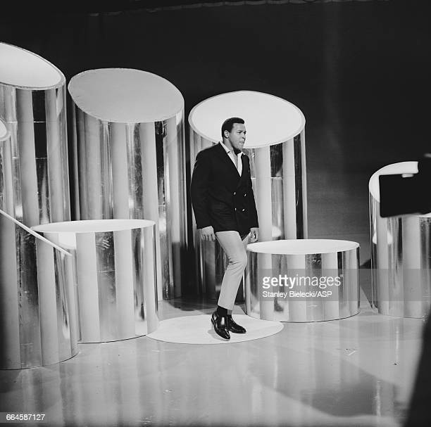 American singer Chubby Checker performing on an edition of the 'Thank Your Lucky Stars' television show which was filmed at the Alpha Studios in...