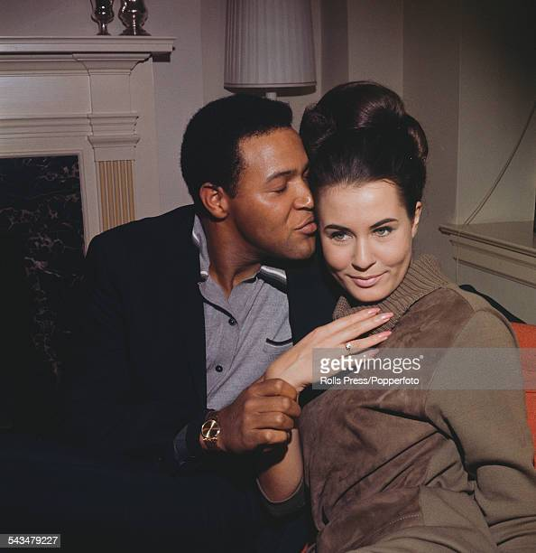American singer Chubby Checker pictured with his fiancee model and Miss World winner Catharina Lodders in December 1963