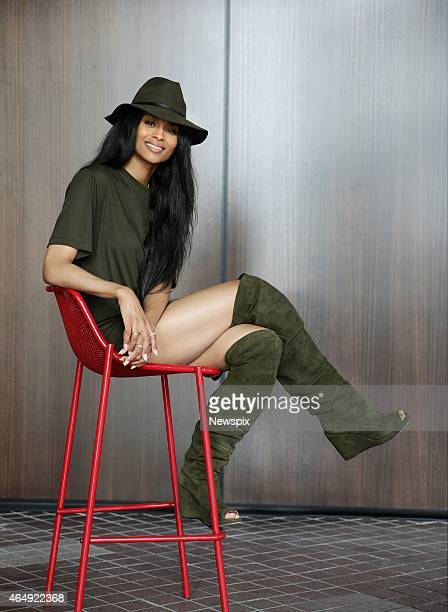 American singer Ciara poses during a photo shoot on February 23 2015 in Melbourne Australia