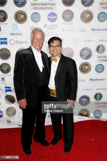 American singer composer actor Pat Boone and Chairman/CEO SBMT President of Brain Mapping Foundation Dr Babak Kateb attend the 16th annual 'Gathering...
