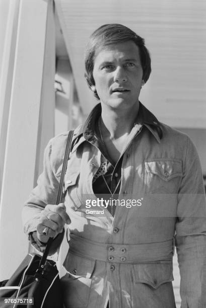 American singer, composer, and actor Pat Boone at Heathrow Airport, London, UK, 12th September 1973.